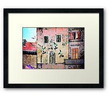 The Essence of Croatia - White Doves in Dubrovnik Framed Print