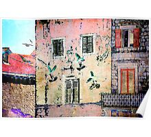 The Essence of Croatia - White Doves in Dubrovnik Poster