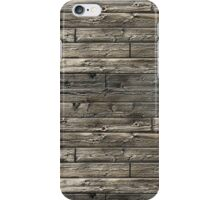 Wood patterned iPhone case iPhone Case/Skin