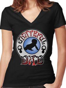 Grateful Dad Women's Fitted V-Neck T-Shirt