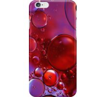 Red and Purple Bubbles iPhone Case/Skin