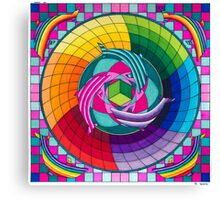 Sirius dolpin color scheme 1 Canvas Print