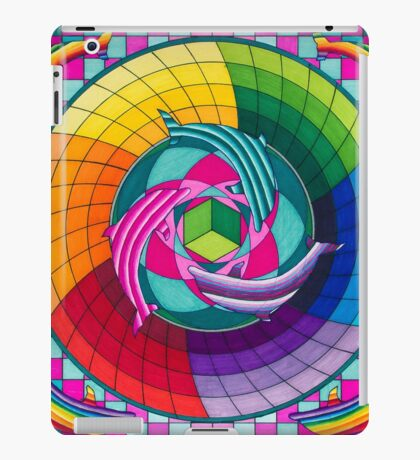 Sirius dolpin color scheme 1 iPad Case/Skin