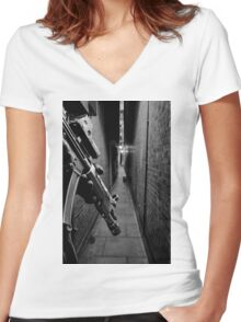 The Search is On Women's Fitted V-Neck T-Shirt