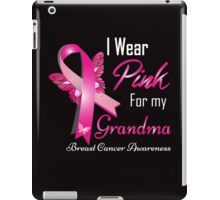 i wear pink for my grandma iPad Case/Skin