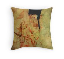 In white - Ashes  Throw Pillow
