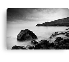 Serene and mystical Black and White Seascape Canvas Print