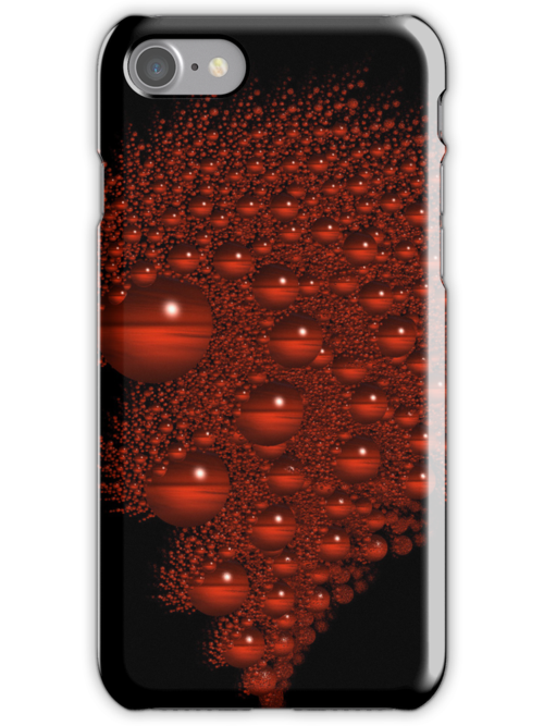 Red Bubble ...Fractal Iphone Cover by Elaine  Manley