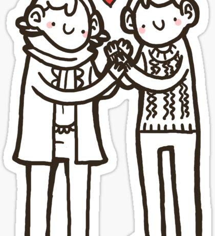 Sherlock and John Sticker