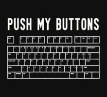 Push My Buttons Funny Keyboard Boobs One Piece - Short Sleeve