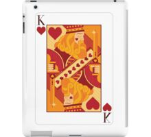 King of Hearts Playing Card iPad Case/Skin