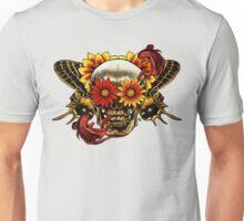 Skull In Bloom. Unisex T-Shirt