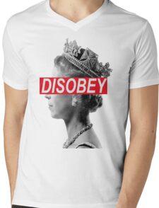 Queen Elizabeth DISOBEY Funny Indie Mens V-Neck T-Shirt