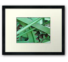 Green Gears Framed Print