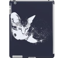 Furry Kitten - One Color Vector iPad Case/Skin