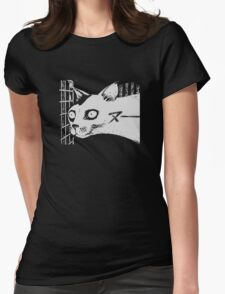 Spoopy Cat is Spoopy. Womens Fitted T-Shirt
