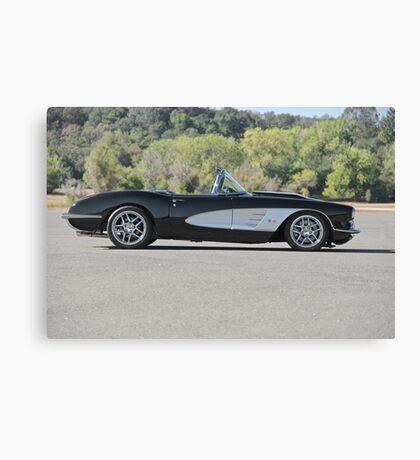 1958 Corvette Roadster 'On Location' I Canvas Print