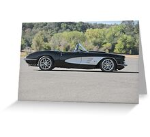1958 Corvette Roadster 'On Location' I Greeting Card