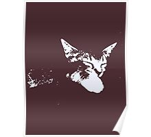 Cat Nap - One Color Vector Poster