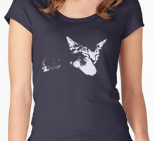 Cat Nap - One Color Vector Women's Fitted Scoop T-Shirt