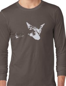 Cat Nap - One Color Vector Long Sleeve T-Shirt