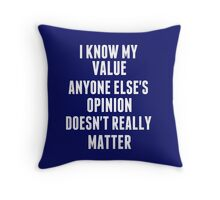 agent carter quote Throw Pillow