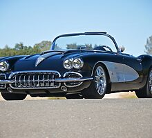 1958 Corvette Roadster 'On Location' II by DaveKoontz