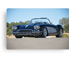 1958 Corvette Roadster 'On Location' II Canvas Print