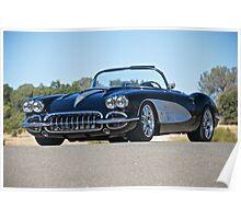 1958 Corvette Roadster 'On Location' II Poster