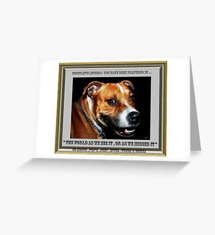 """"""" You Sly Dog You """". Group banner . Greeting Card"""