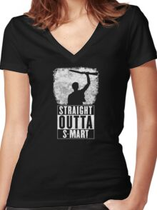 Straight Outta S-Mart Women's Fitted V-Neck T-Shirt