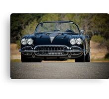 1958 Corvette Roadster 'On Location' III Canvas Print
