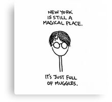 New York Muggle Canvas Print