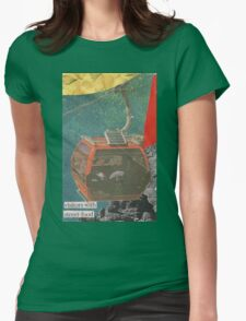 Visitors With Street-Food Womens Fitted T-Shirt