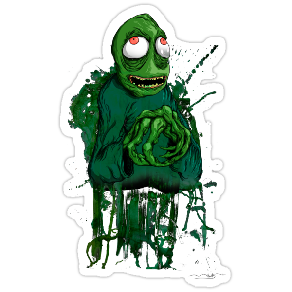 Salad Fingers - Coloured by MarcLothsArt