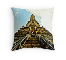 Climb up to meet the gods Throw Pillow