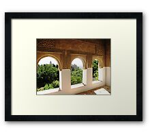 Looking through the window.. Framed Print