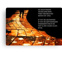 Rumi quote Canvas Print