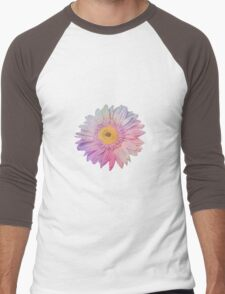 Pink Flower Men's Baseball ¾ T-Shirt