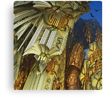 Flying above the golden rocks Canvas Print