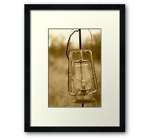 old lantern Framed Print
