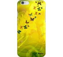 LILIES AND BUTTERFLIES, by E. Giupponi iPhone Case/Skin