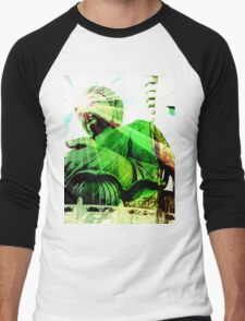 Green Buddha Men's Baseball ¾ T-Shirt