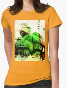 Green Buddha Womens Fitted T-Shirt
