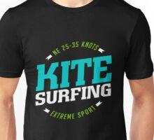 NE 25-35 Knots Kitesurfing Art15c Unisex T-Shirt