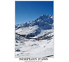 simplon pass Photographic Print
