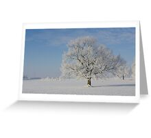 Snow Tree Greeting Card