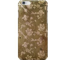 Old Vintage Flower Pattern Wallpaper iPhone Case/Skin
