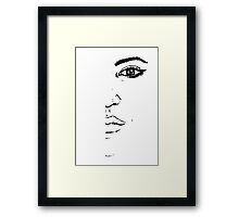 Black and white Pen pattern drawing3 Framed Print