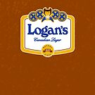 Logan's Canadian Lager (iPhone case) by maclac